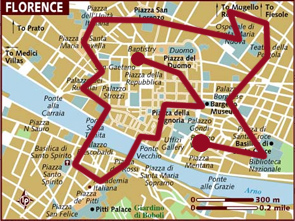 Mappa Firenze / Florence Map